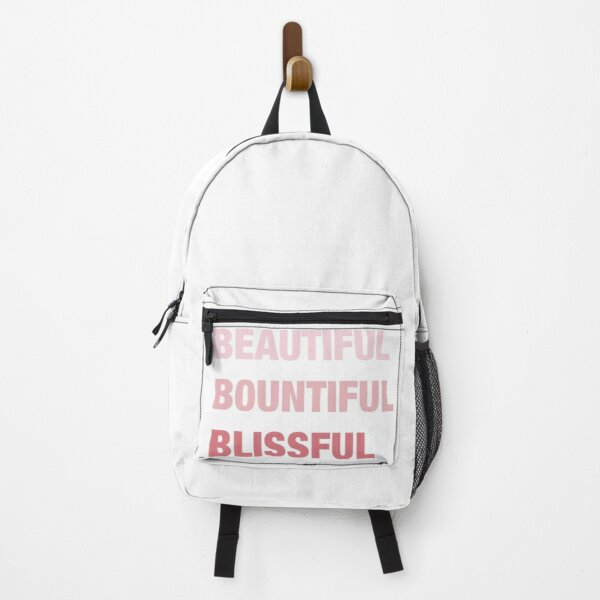 Daily mantra in pink Backpack