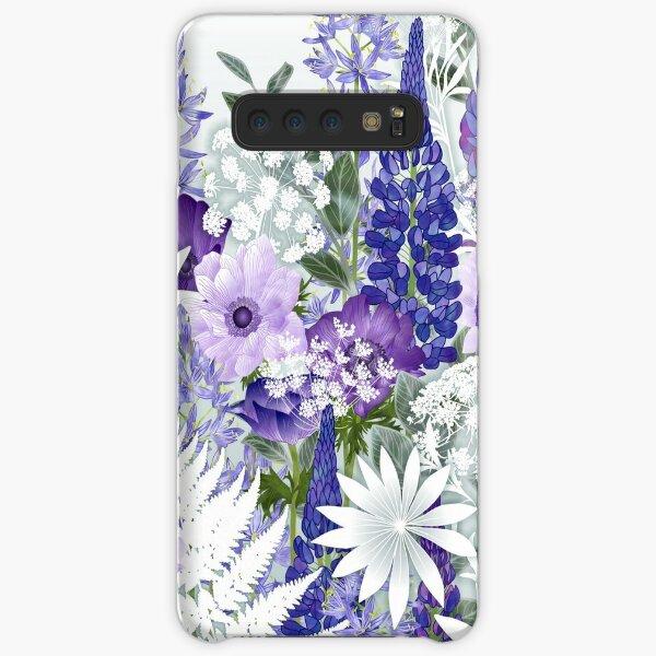 Blue Flower Garden - Lupins, Anemones, Camassia, Ammi Samsung Galaxy Snap Case
