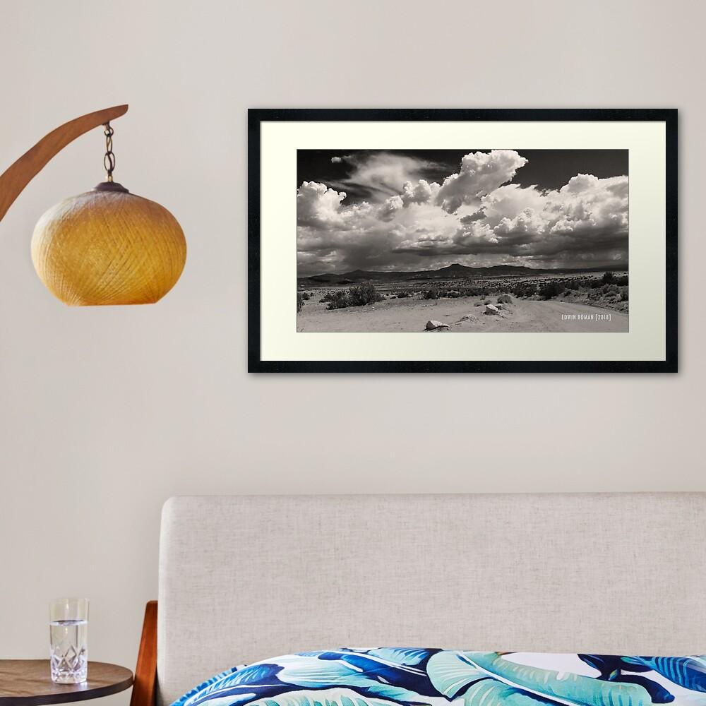 The Pedernal In The Distance Framed Art Print
