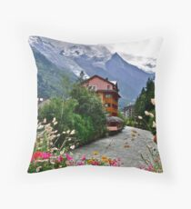 Chamonix in Haute-Savoie, France Throw Pillow