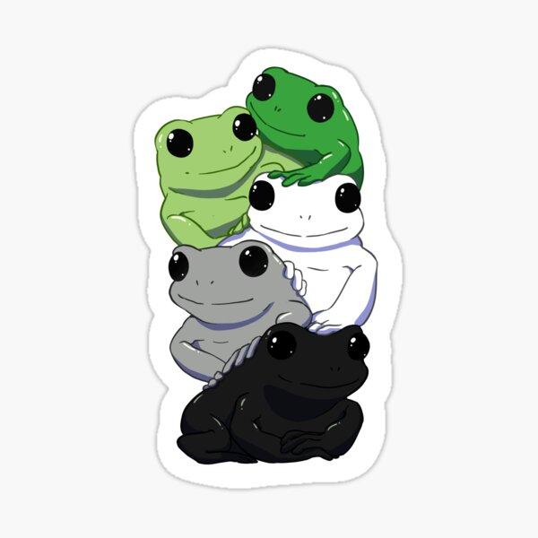 Aromantic Flag Frogs Sticker