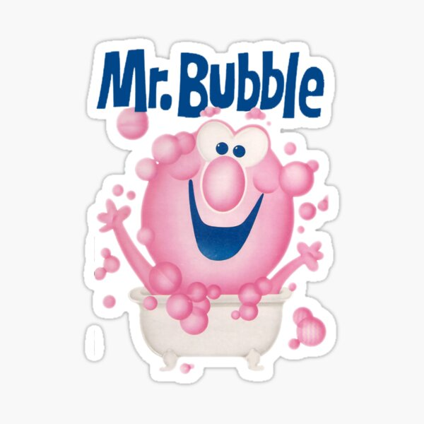 Mr. Bubble - Makes bath Time Fun Sticker