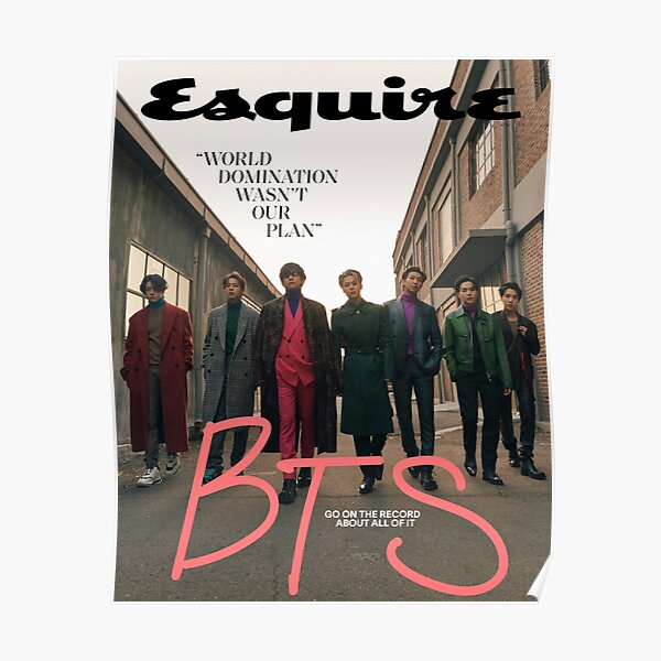 BTS ESQUIRE POSTER Poster