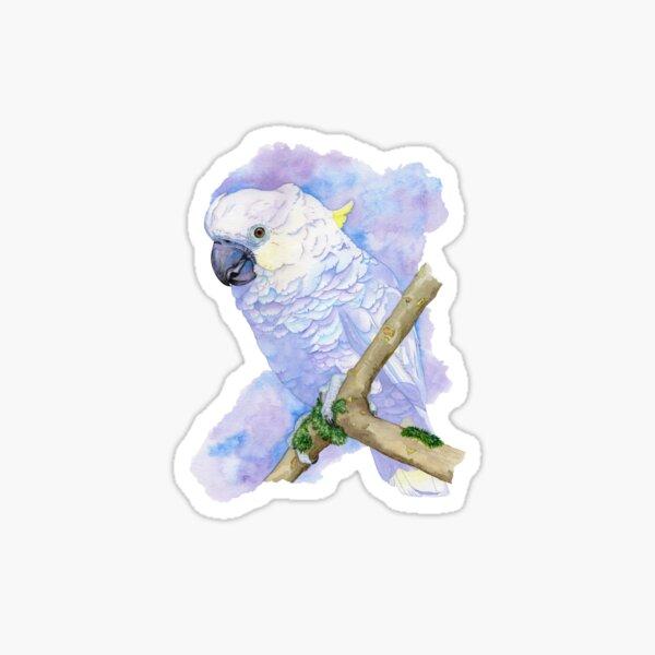 Yellow-crested Cockatoo '' Bianca '' Sticker