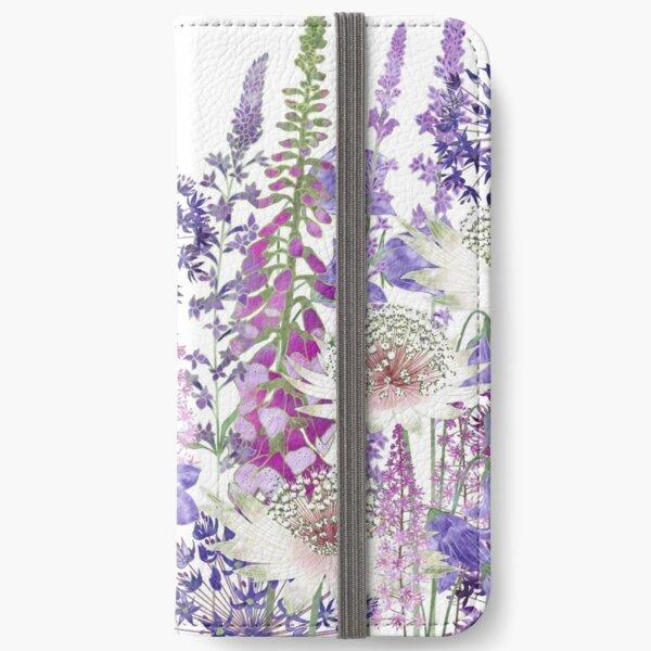 Flower Garden - Astrantia, Campanula, Foxgloves & Alliums iPhone Wallet