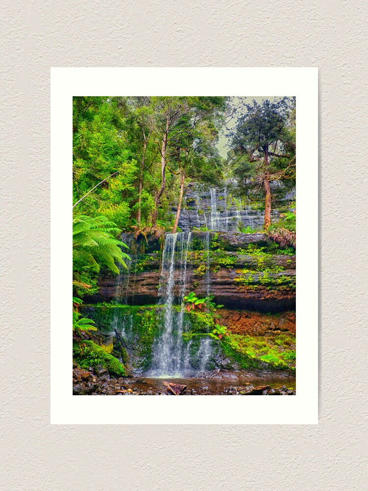 Alternate view of Russell Falls Art Print