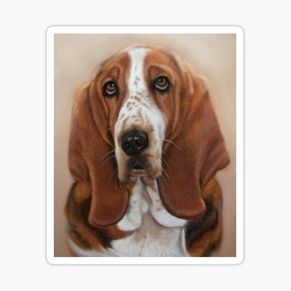 Bassett Hound Dog Art Painting Sticker