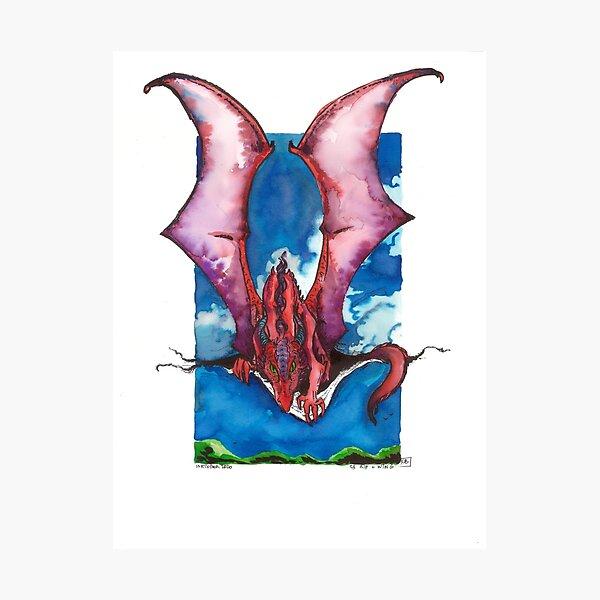 Le dragon et la déchirure Impression photo