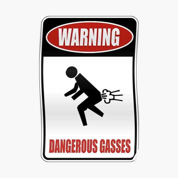 Avertissement de gaz dangereux Poster