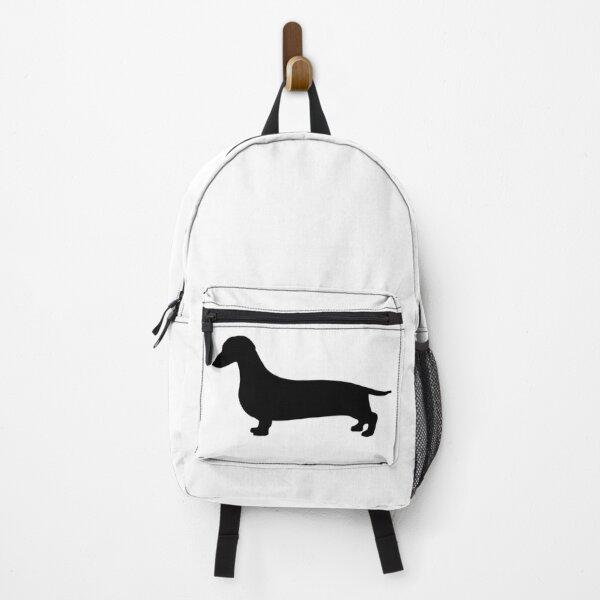 Silhouette Dachshund Backpack