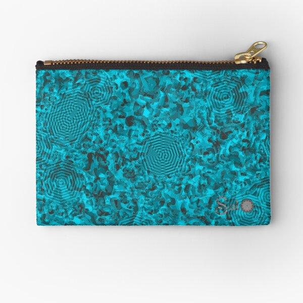 Camouflage Sweet BlueGray Zipper Pouch