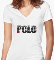 POLO  Women's Fitted V-Neck T-Shirt