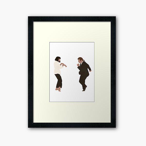 Pulp Fiction dance Framed Art Print