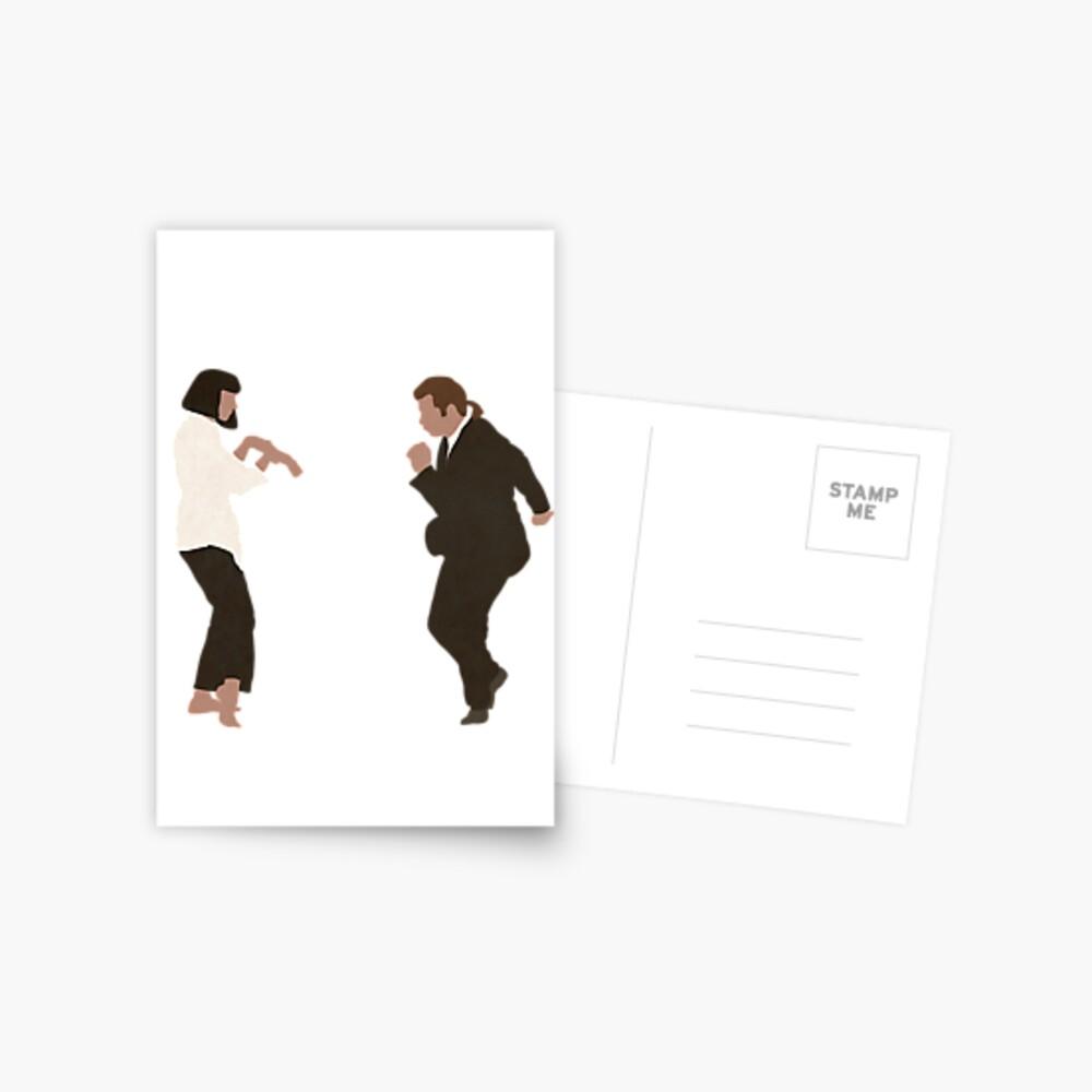 Pulp Fiction Tanz Postkarte