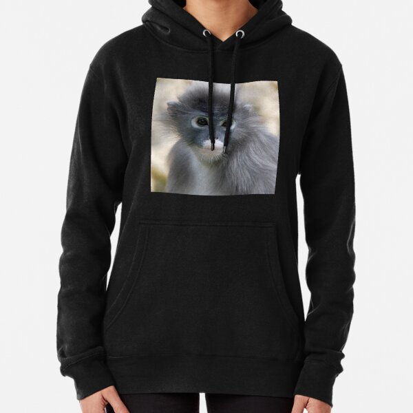 Dusky Leaf Monkey - (Trachypithecus obscurus) Pullover Hoodie