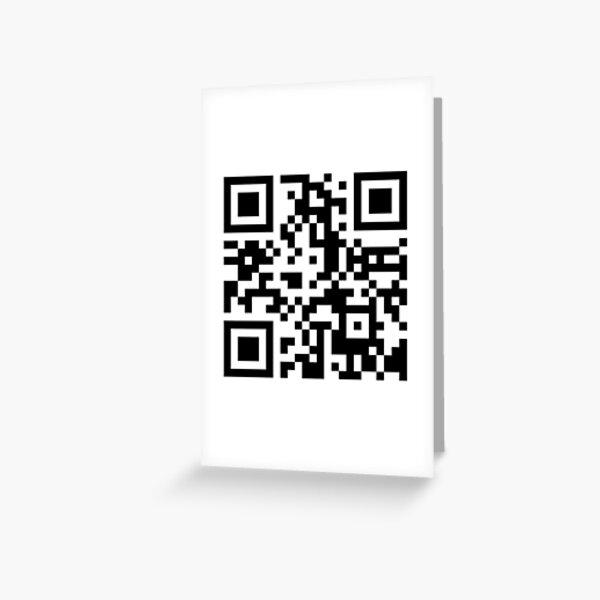 Pornhub qr code! Greeting Card