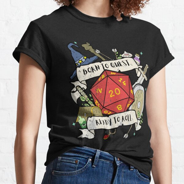Born To Quest RPG Tee Classic T-Shirt
