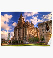 The Royal Liver Building - Liverpool UK Poster