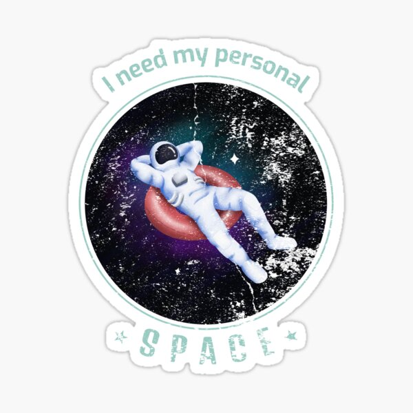 Personal Space Astronaut Tee Sticker