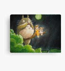 Moonlight Music with Totoro - My Neighbor Totoro Canvas Print