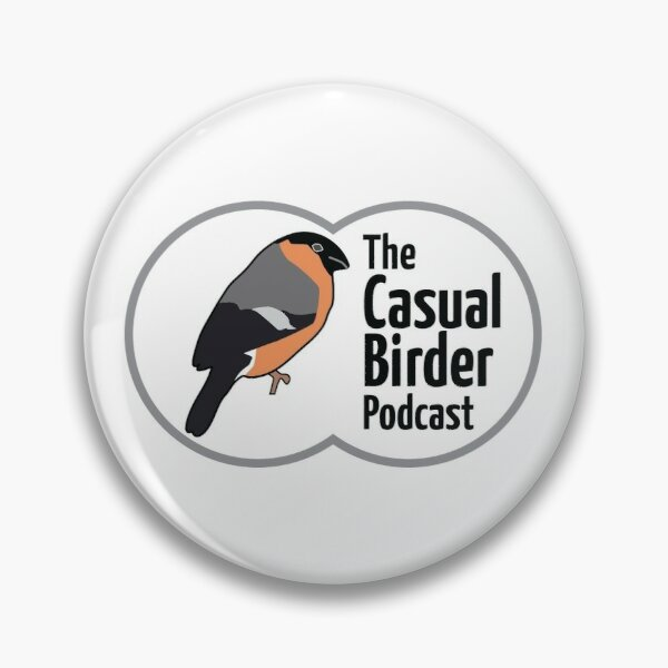 The Casual Birder Podcast - artwork with transparent background Pin