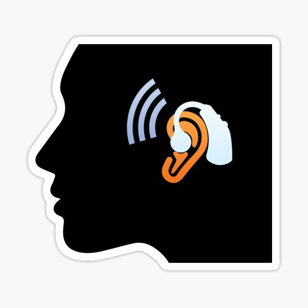 Hearing impaired Sticker