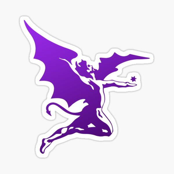 Metal Devil (Purple distressed design) Sticker