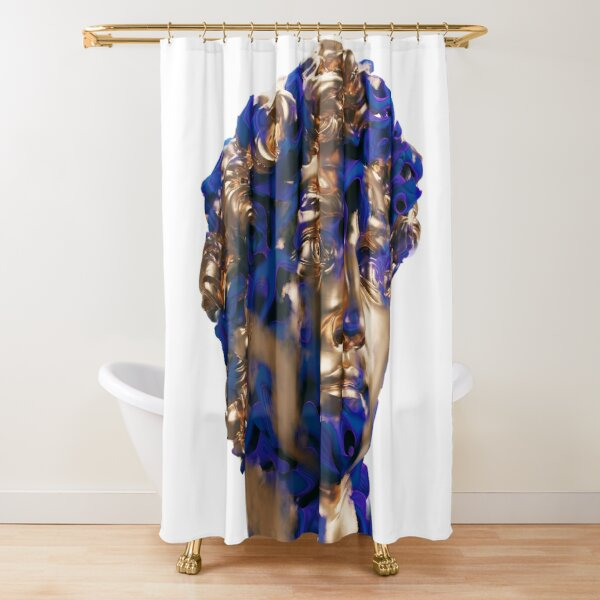 DAVID AND BLUE MIST Shower Curtain