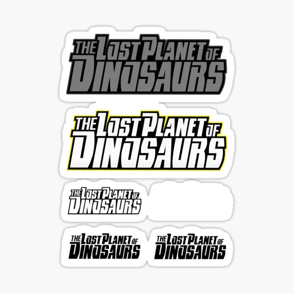 The Lost Planet of Dinosaurs Stickers Sticker