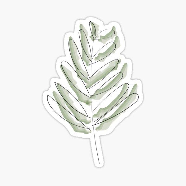 Leaf sketch Sticker
