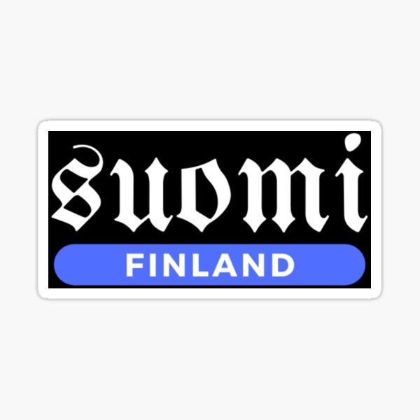 Suomi Finland White And Blue Home Of Sauna and Sisu Sticker