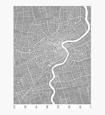 Shanghai map grey Photographic Print