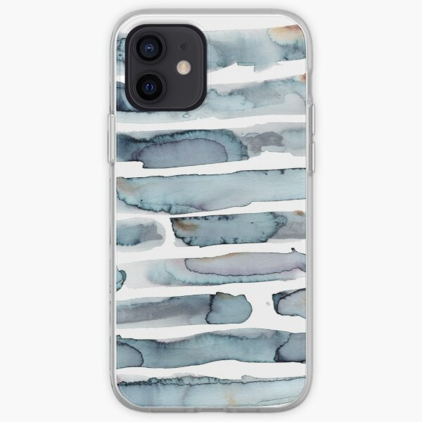 Neutral Stripes & Watermarks iPhone Soft Case