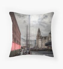 Albert Docks Liverpool Throw pillow and Tote Bags Throw Pillow