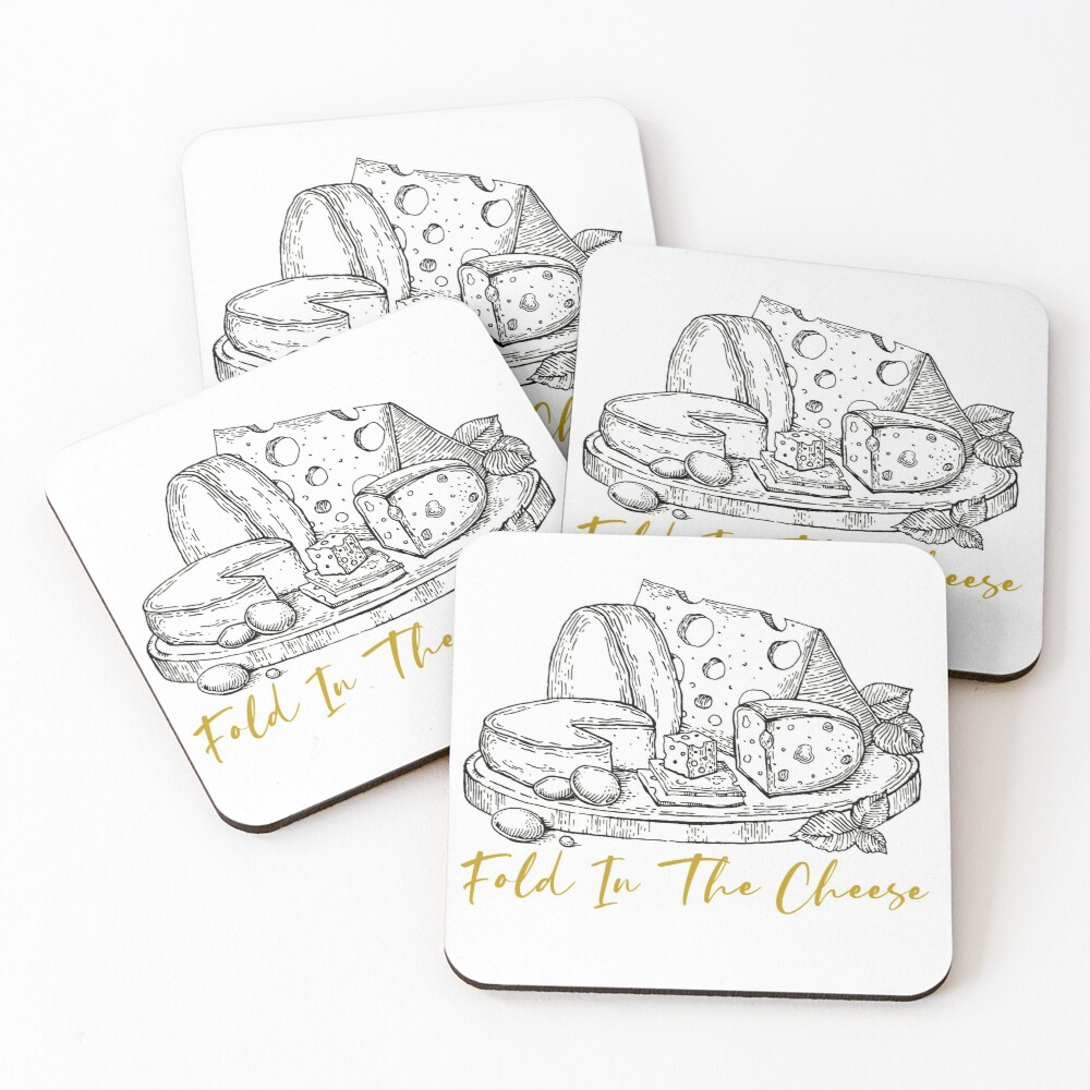 Fold In The Cheese - Schitts Creek Quote Coasters (Set of 4)