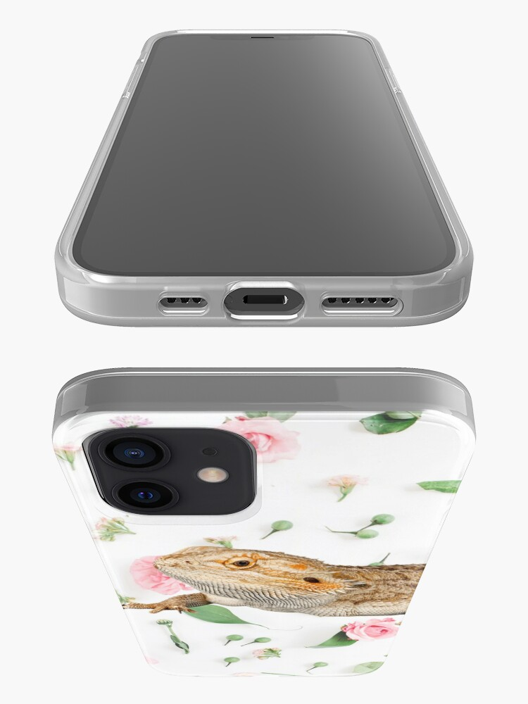 Alternate view of Bearded Dragon On A Carnation Background iPhone Case & Cover