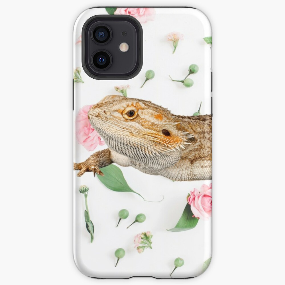 Bearded Dragon On A Carnation Background iPhone Case & Cover