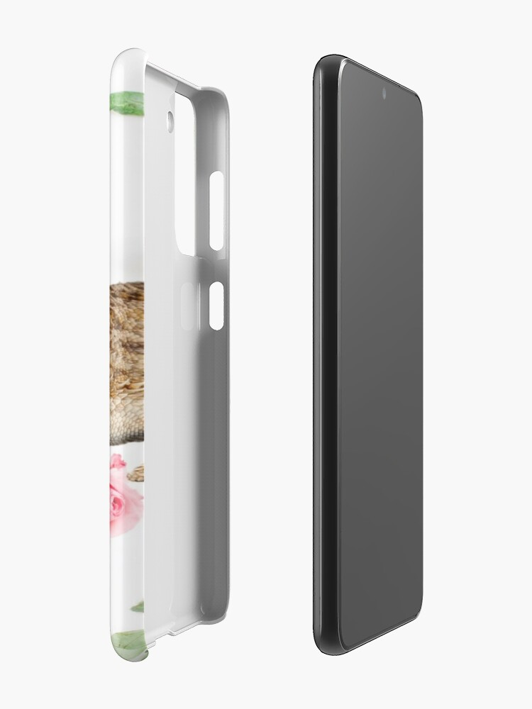 Alternate view of Bearded Dragon On A Carnation Background Case & Skin for Samsung Galaxy