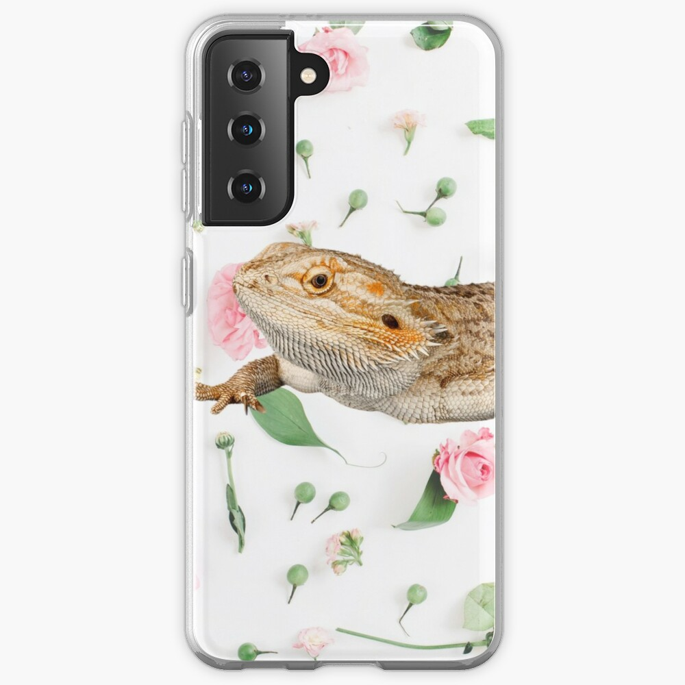 Bearded Dragon On A Carnation Background Case & Skin for Samsung Galaxy