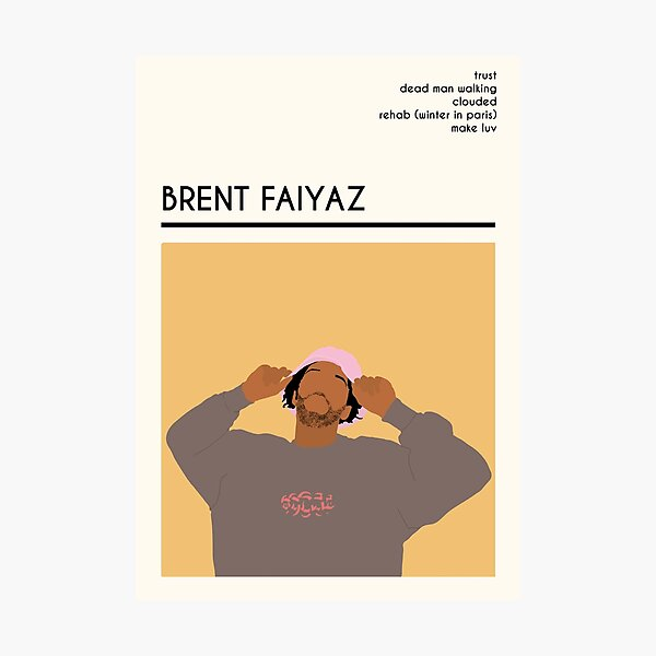 Brent Faiyaz Inspired Musician Wall Art and More Photographic Print