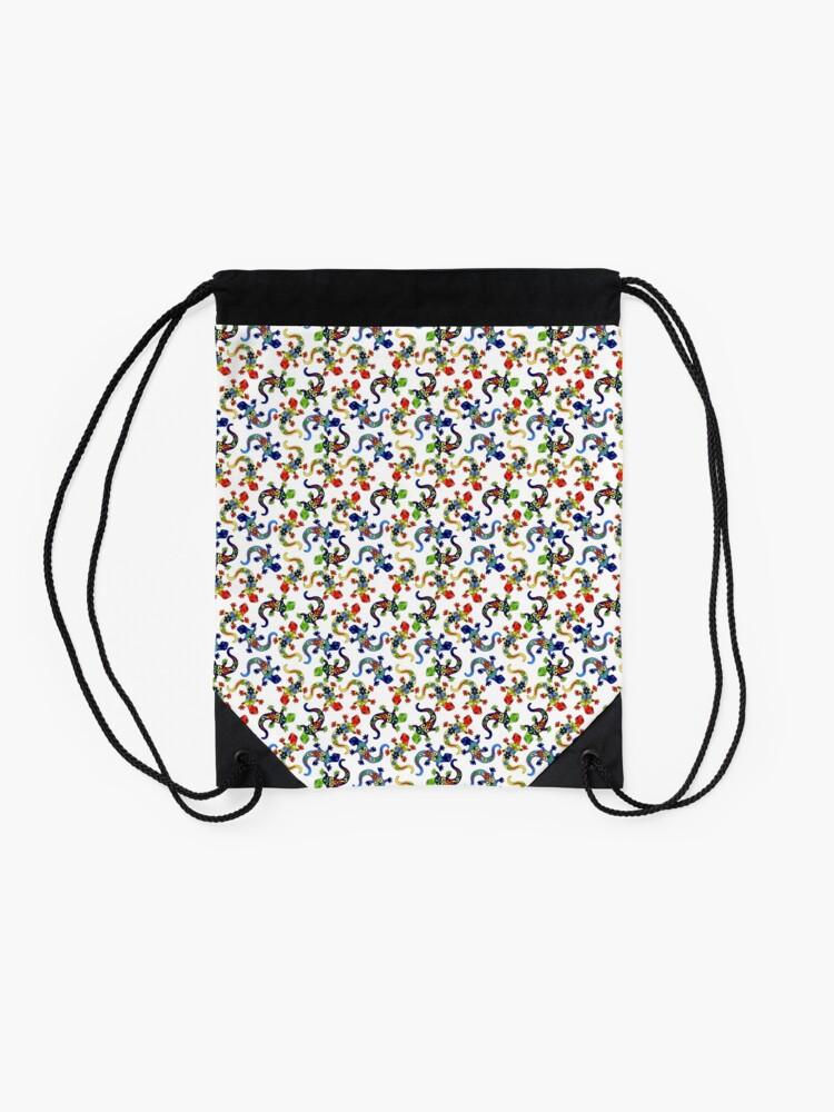 Alternate view of Gecko Vibrant Multi Print Drawstring Bag