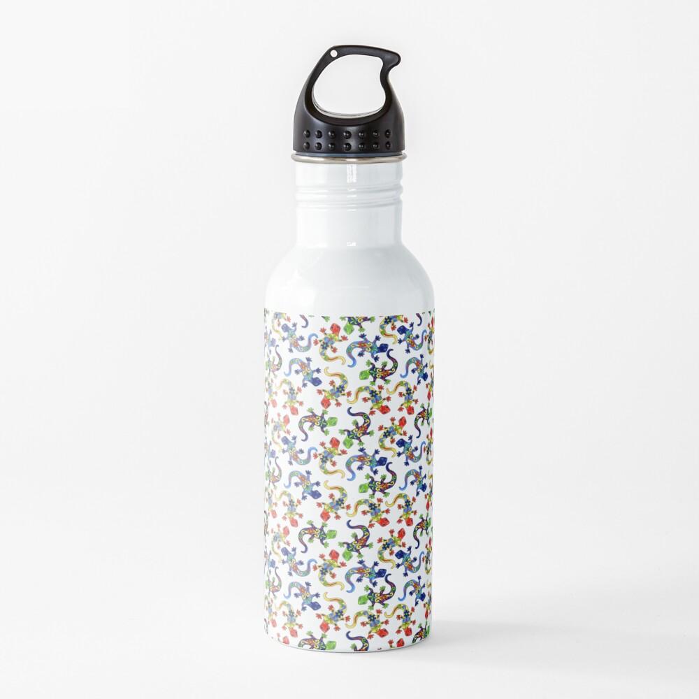 Gecko Vibrant Multi Print Water Bottle