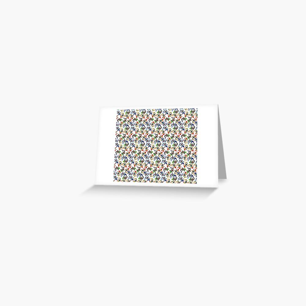 Gecko Vibrant Multi Print Greeting Card