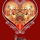 LOVE HEART - Red (Card) by ifourdezign