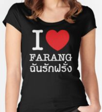 I Love (Heart) Farang Women's Fitted Scoop T-Shirt