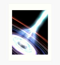 Gamma Rays in Galactic Nuclei Art Print