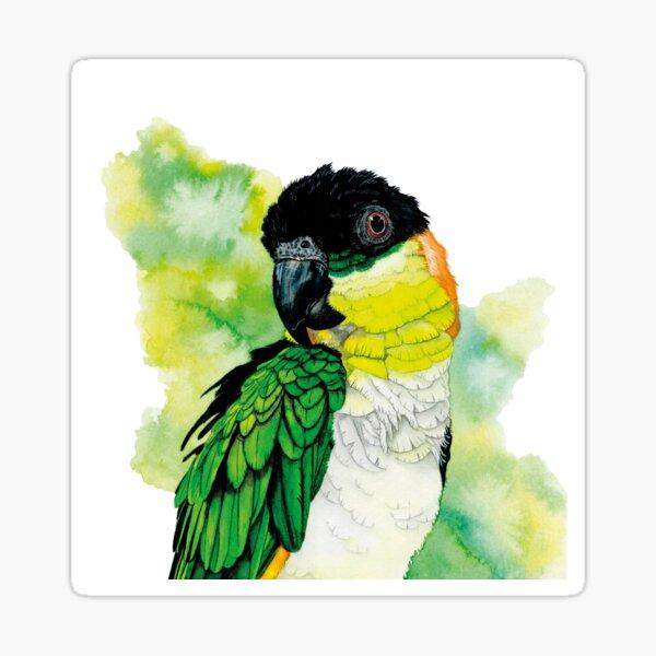 Green-bridled parrot '' Gorbi '' Sticker