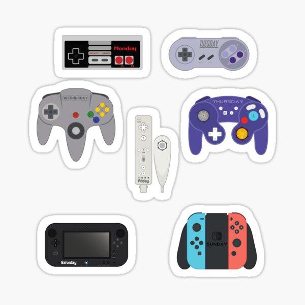 Nintendo controller Days of the week full pack Sticker