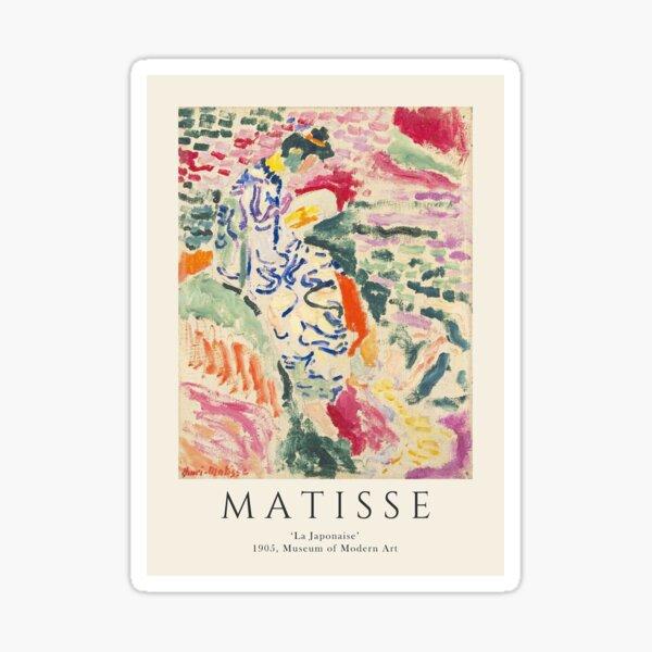 Henri Matisse - 'La Japonaise' MoMA 1905 Sticker