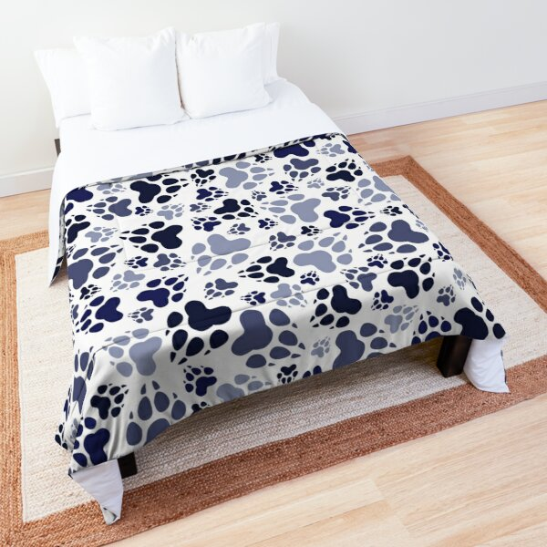Dog Feets BLUE Comforter
